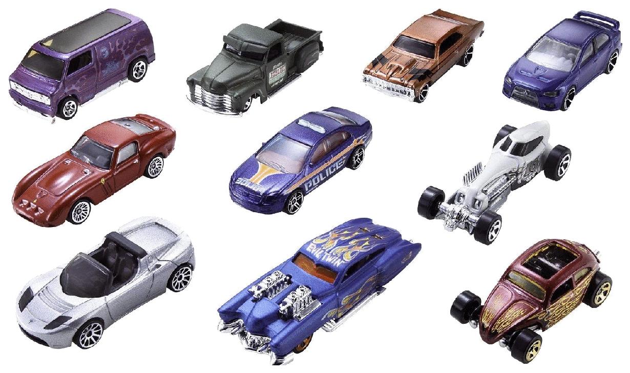 Купить Набор пластиковых машинок Hot Wheels® HW BASIC CAR 9PK 1 54886 DNW82, Mattel, Коллекционные модели