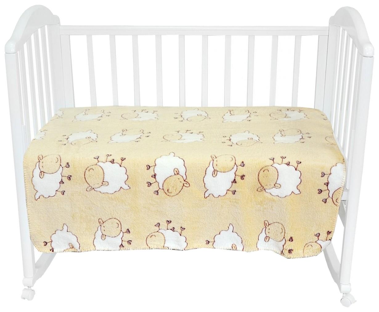 Плед-покрывало Baby Nice Барашки на желтом 100x118