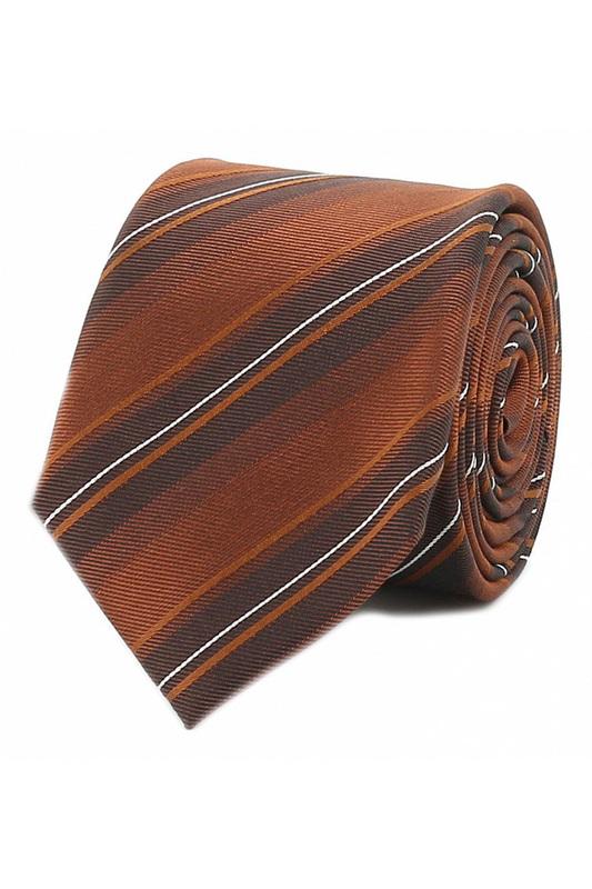 Галстук мужской Strellson 55338 коричневый