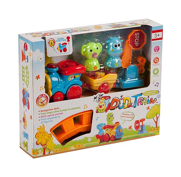 Купить Железнодорожный набор со звуковыми и световыми эффектами Арт.65123., Shenzhen Toys, Детские железные дороги