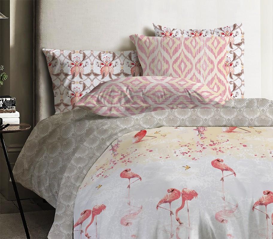 Комплект постельного белья Mona Liza ML Japanese Flamingo евро 592109/13 фото