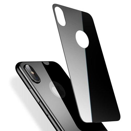 Защитное стекло Baseus Silk-screen Glass для задней панели Apple iPhone X Black