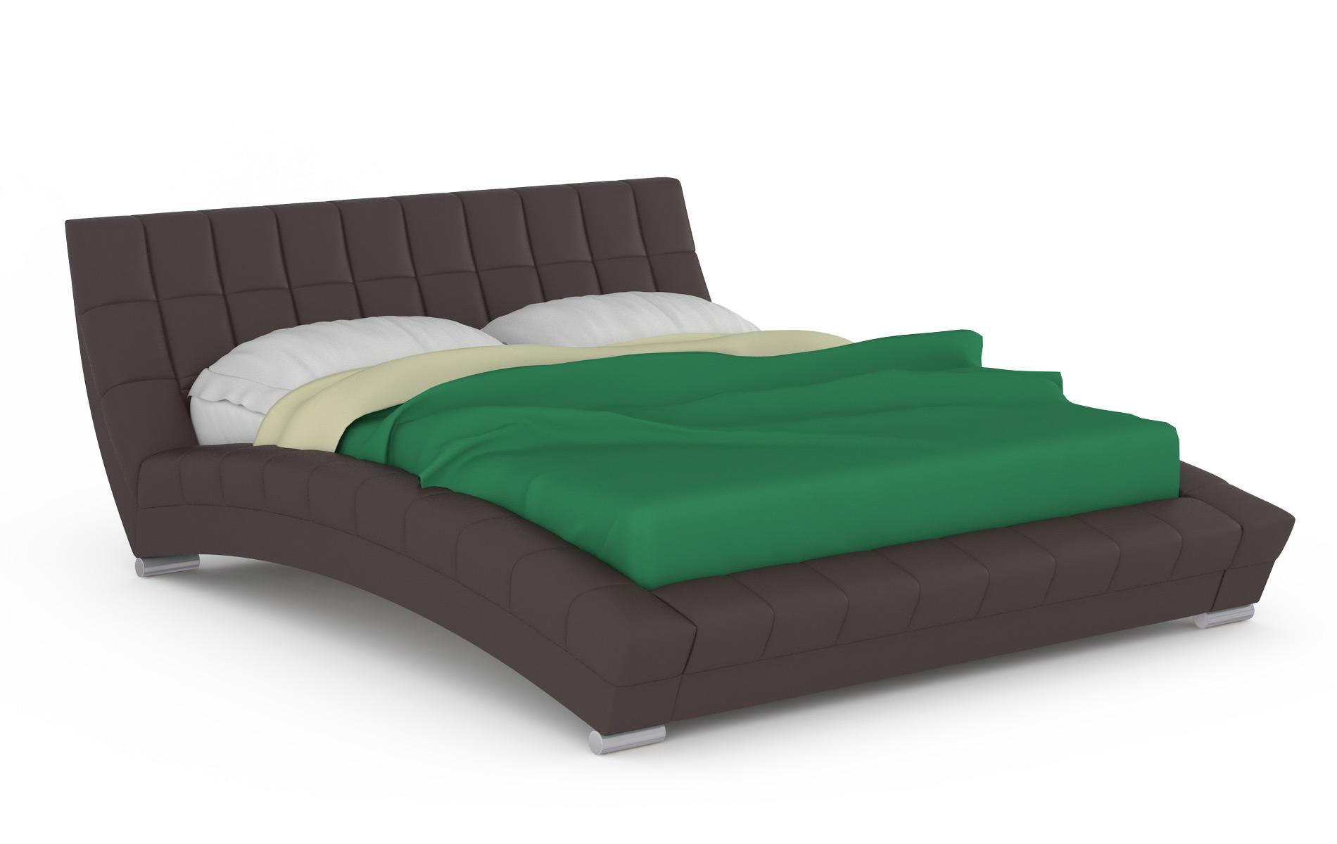 Кровать интерьерная Mobi Оливия 200х250х88 см, коричневый фото
