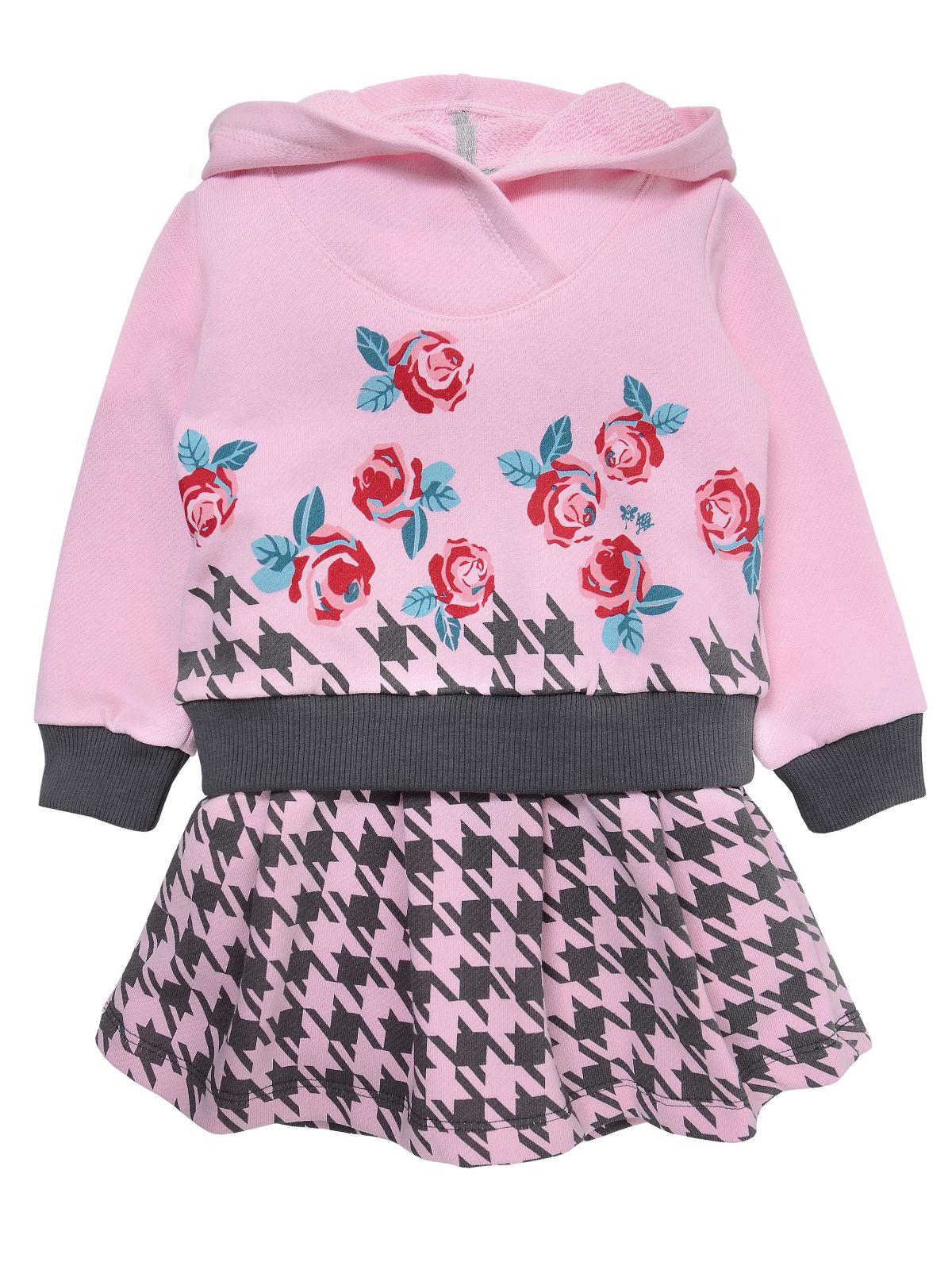 Платье для девочки Мамуляндия 19-825 Футер, Розовый р. 86 фото