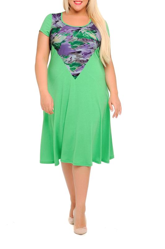 Платье женское SVESTA R302-16SAL зеленое 50 RU фото