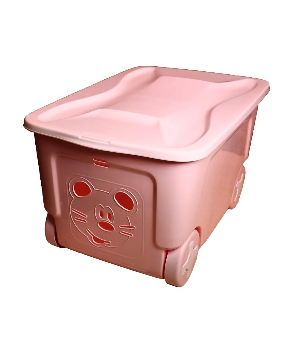 Ящик для игрушек Little Angel COOL 50 литров нежно-розовый