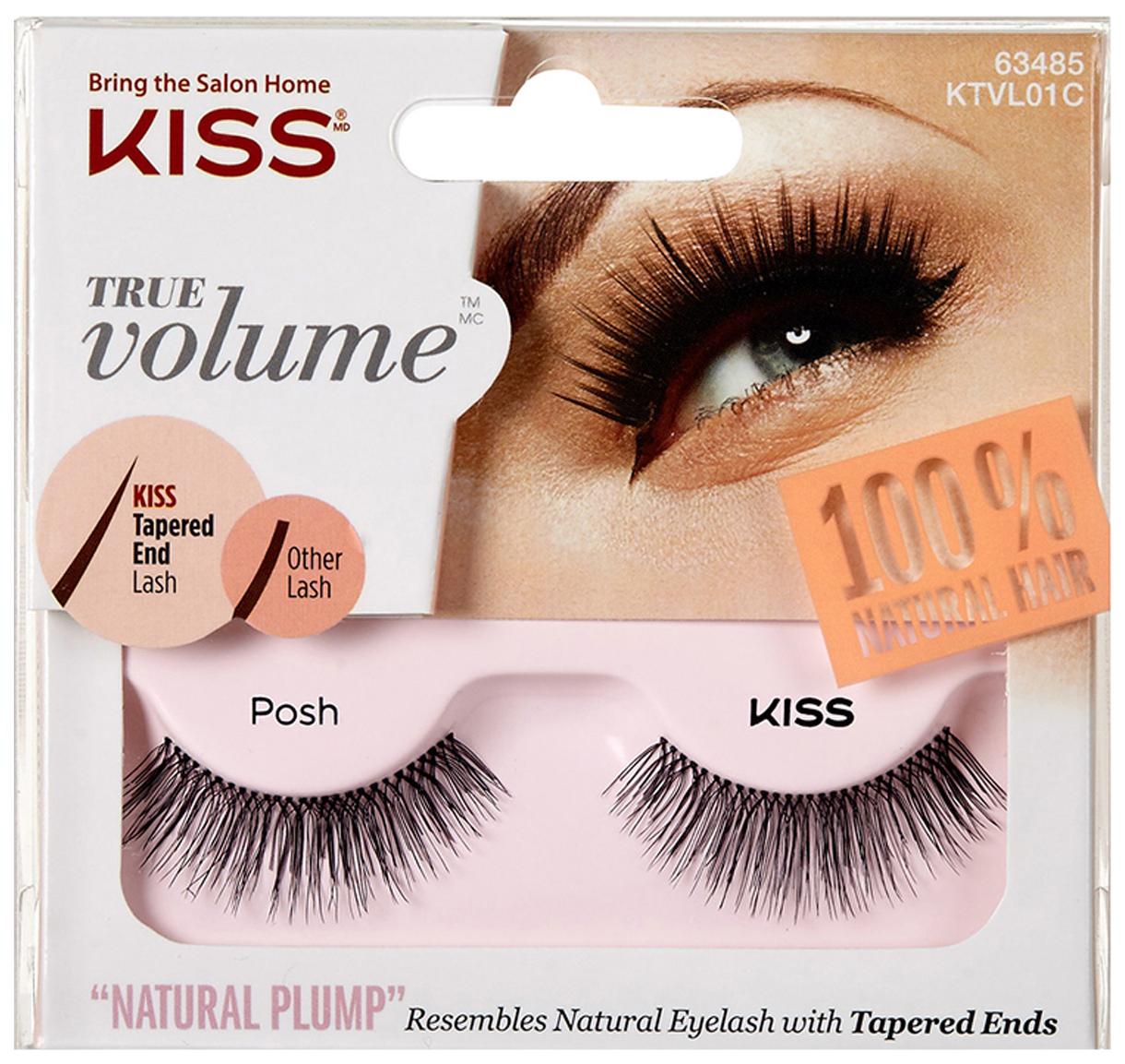 Купить Накладные ресницы KISS True Volume Lash Posh (KTVL01C) 2 шт