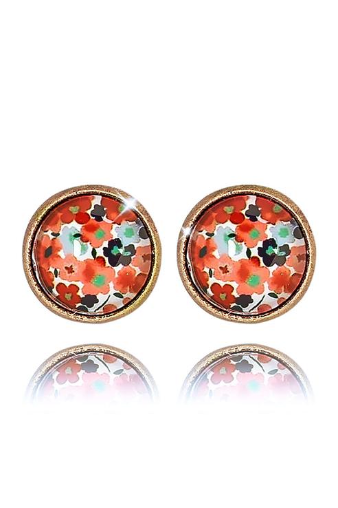 Серьги женские ViviTrend Цветочки (гвоздики) 51137 красные фото