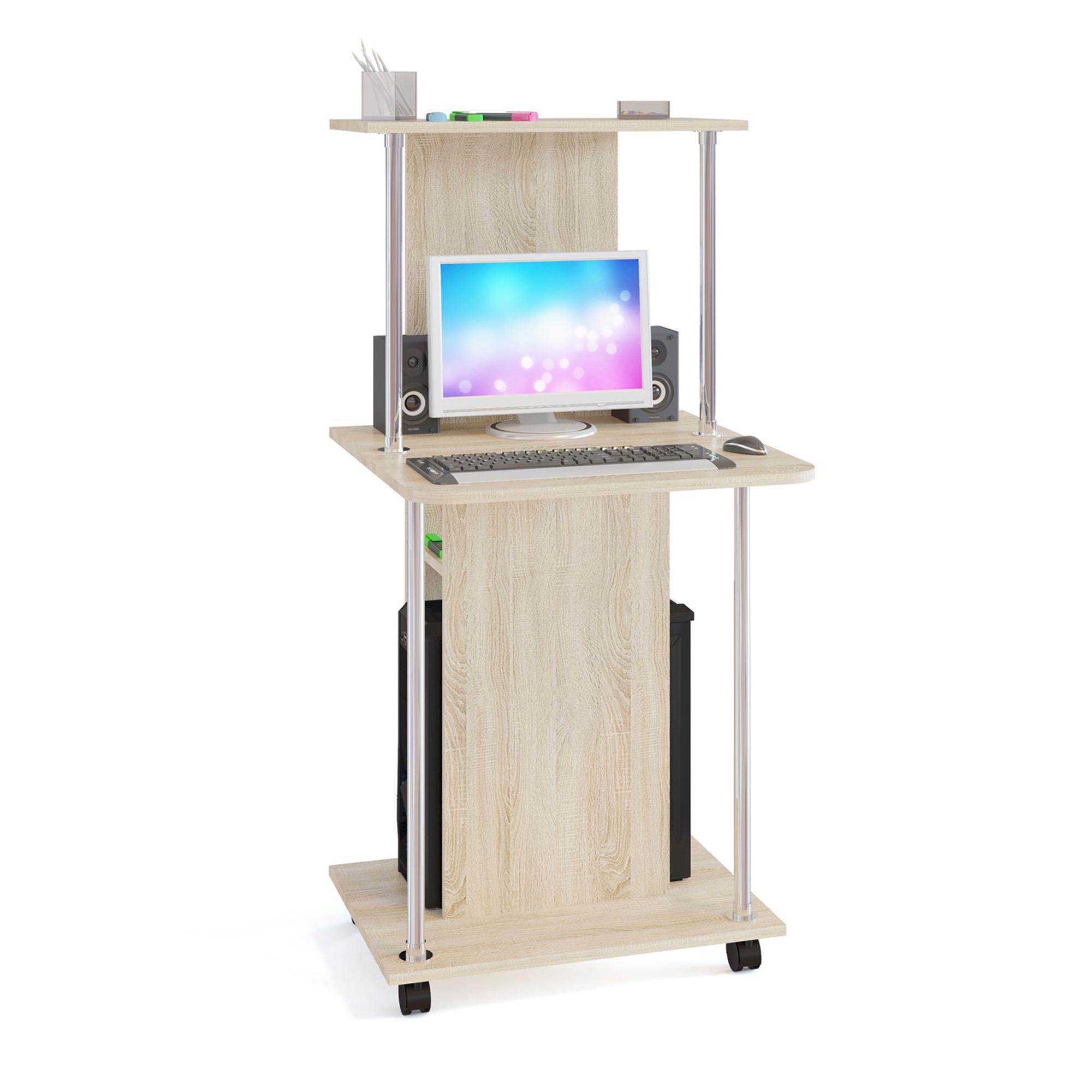 Компьютерный стол СОКОЛ КСТ-12 60x60x126, дуб сонома