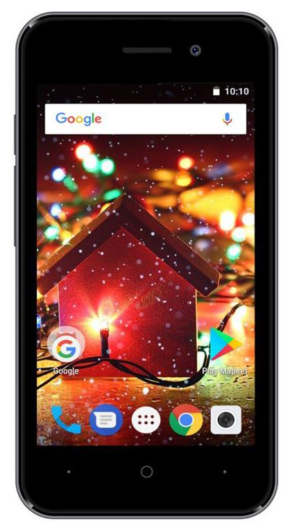 Смартфон Digma HIT Q401 3G 8Gb Titanium Gray фото