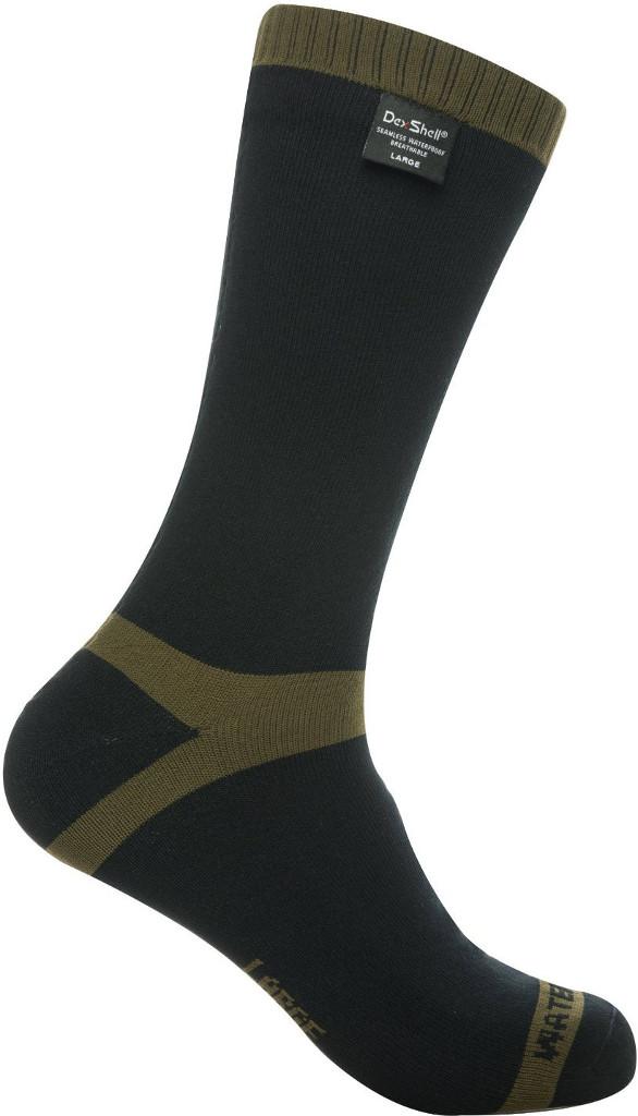 Носки DexShell Waterproof Trekking Olive 2017 черные/зеленые, размер