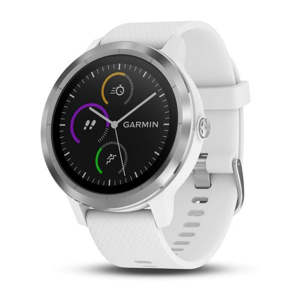 Умные часы Garmin Vivoactive 3 silver/white фото