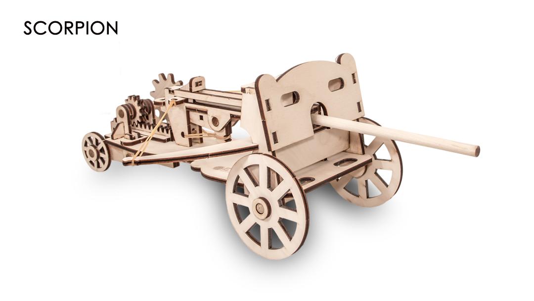 Купить Конструктор Eco Wood Art 3D Метательная машина скорпион из дерева,