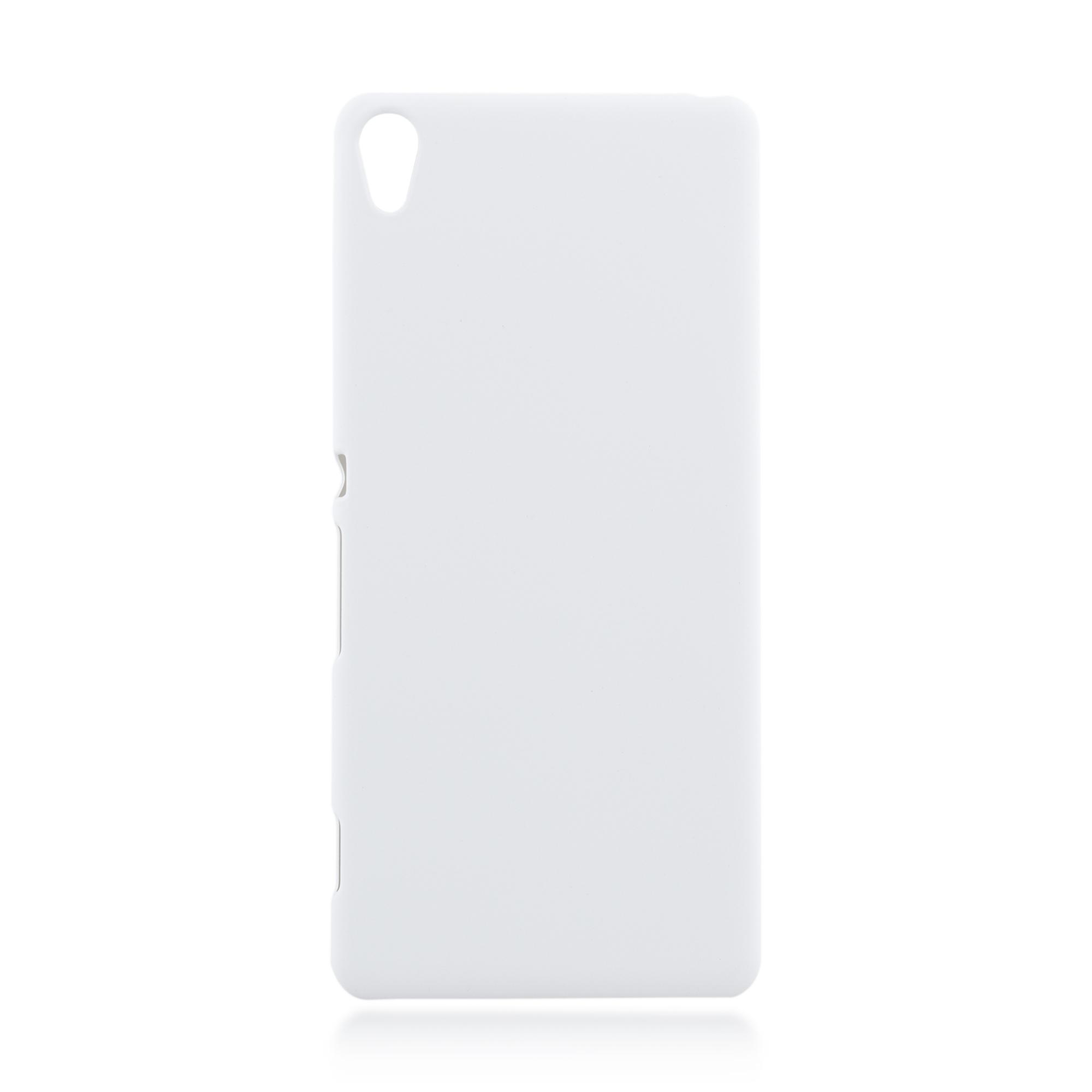Пластиковая накладка Brosco Soft-touch для Sony Xperia XA, белая