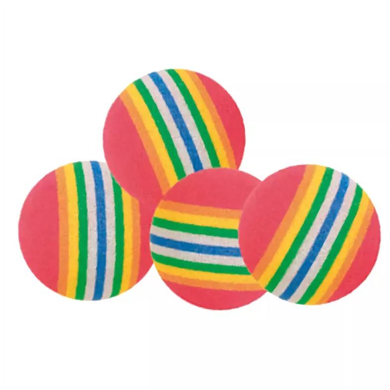 Игрушка для кошек Beeztees Мяч полосатый мягкий 4см 4шт.