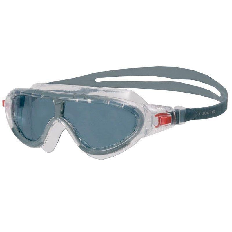 Очки-полумаска для плавания Speedo Rift Junior, 6-14 лет, прозрачные/серые фото