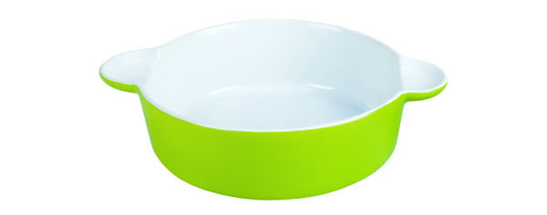 Форма керамическая ТМ Appetite квадратная 25,5x20,5x5,5 см Зеленый