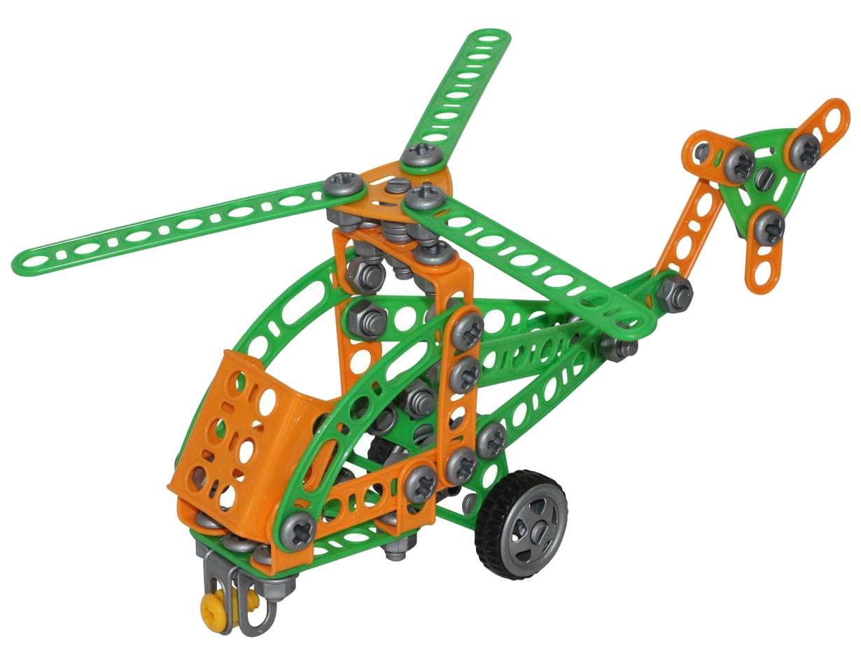 Купить Игрушки, Конструктор пластиковый Полесье Изобретатель - Вертолёт №1 130 элементов, Конструкторы пластмассовые
