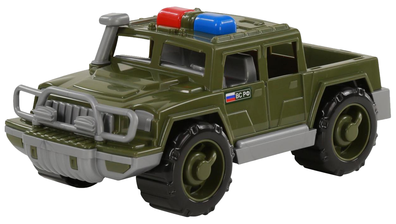 Купить Игрушки, Автомобиль-пикап Полесье военный патрульный Защитник, Игрушечные машинки