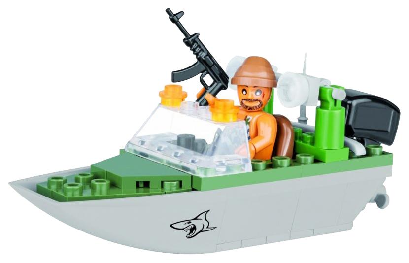 Купить Конструктор пластиковый COBI Shark patrol boat, Конструкторы пластмассовые
