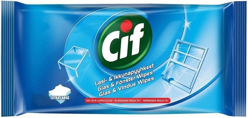 Салфетки влажные Cif для стекол и зеркал