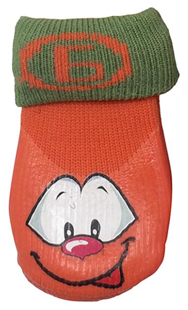Носки для собак БАРБОСки размер M 4 шт оранжевый.