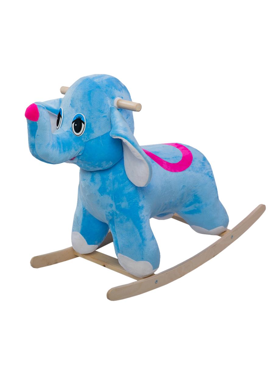 Купить Качалка ToysGo Слон голубой, Качалки детские
