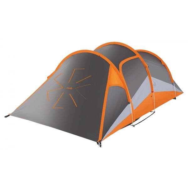 Палатка Norfin Helin Alu NS трехместная серая/оранжевая