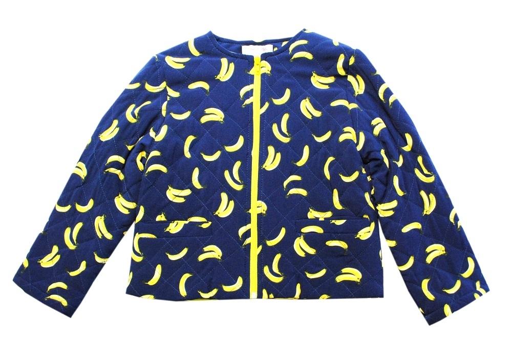 Куртка Bon&Bon для девочки стёганная Бананы 488.3,