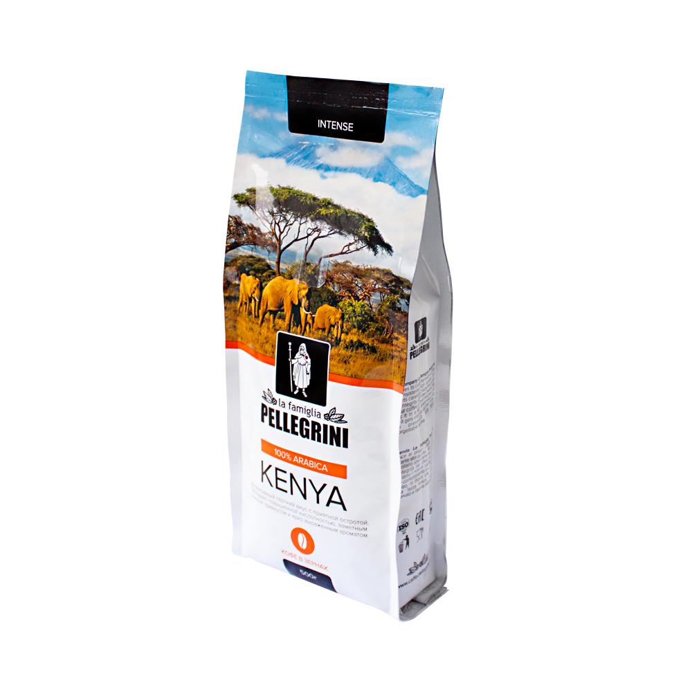 Кофе зерновой La famiglia Pellegrini  Kenya 500  г