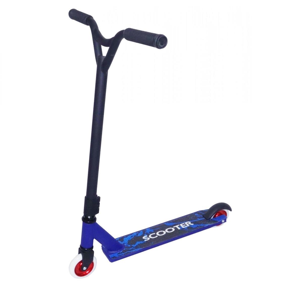 Купить Трюковый самокат Scooter усиленный с алюминиевыми колесами синий, Самокаты детские двухколесные
