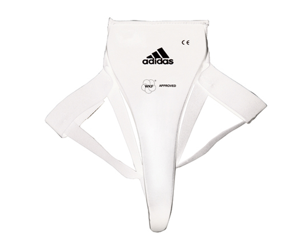 Защита паха женская Adidas WKF Lady Groin Guard белая XS