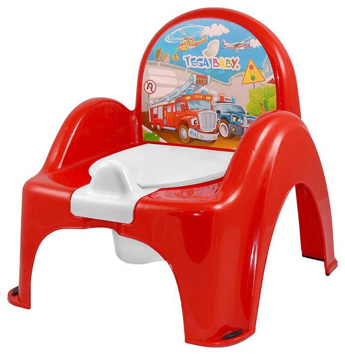 Горшок детский Tega Baby Машины Красный
