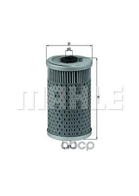 Фильтр масляный двигателя KNECHT OX34D