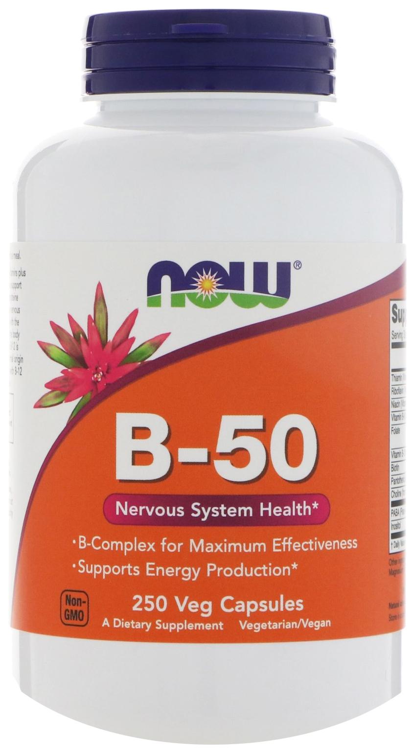 Купить Витамин B NOW B-50 250 капсул