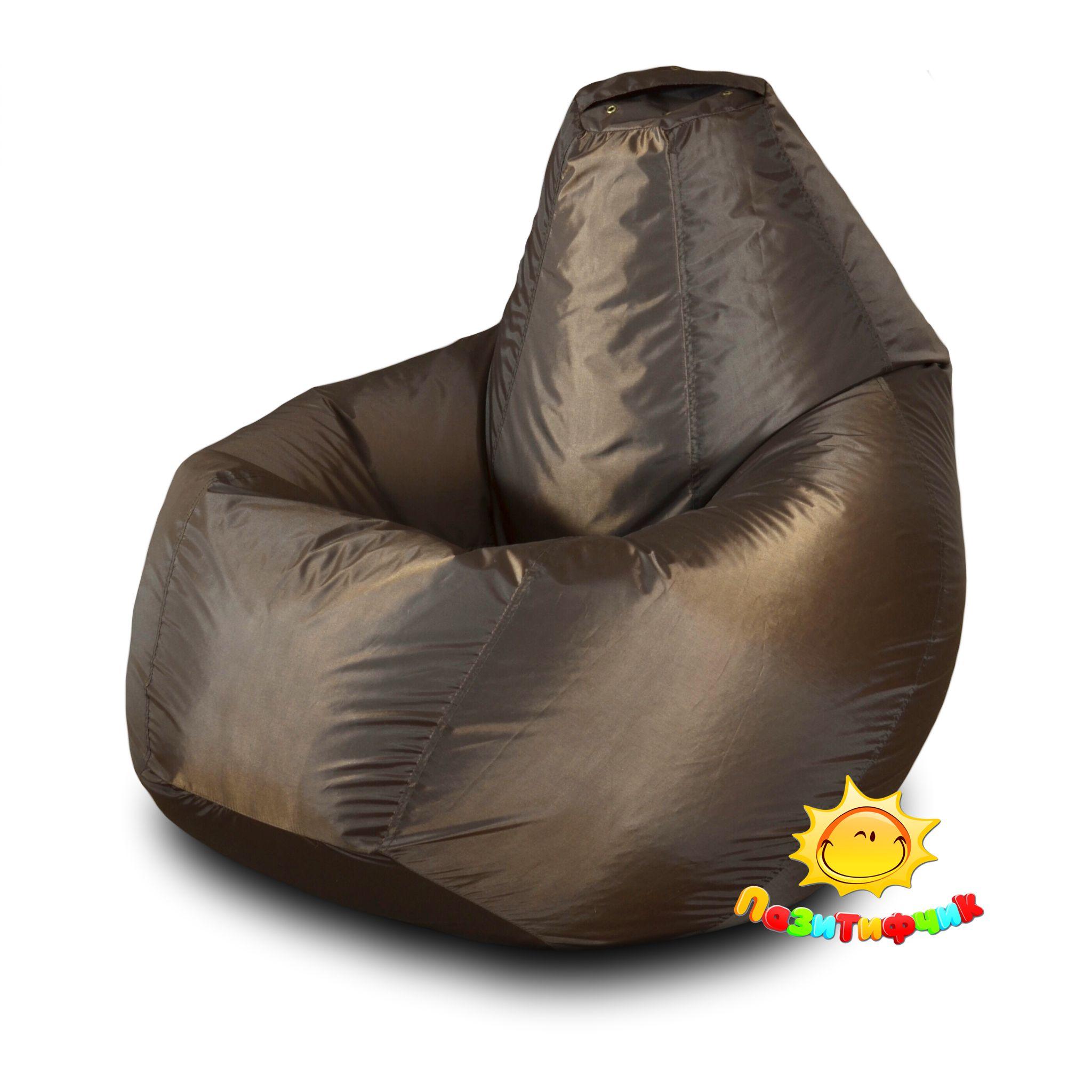 Кресло-мешок Pazitif Груша Пазитифчик, размер XL, оксфорд, шоколад