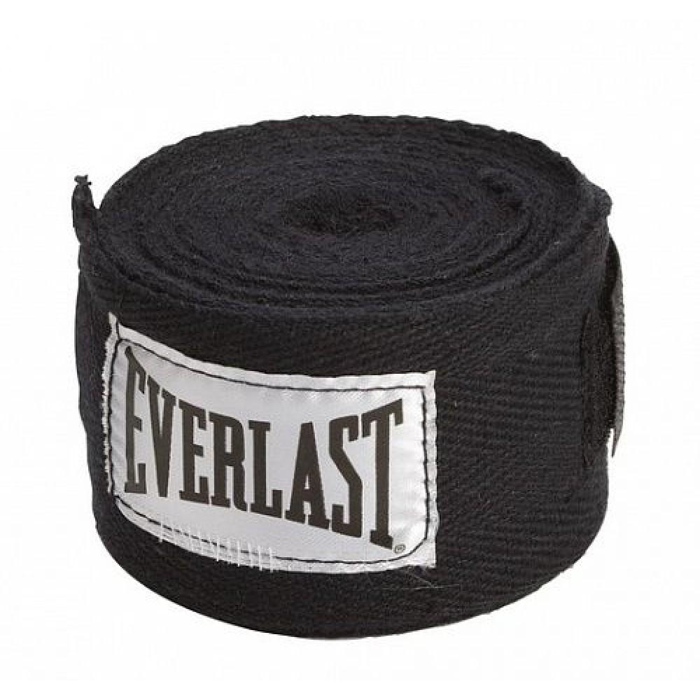 Бинт боксерский Everlast 4464BK, 3.5 м, эластик,