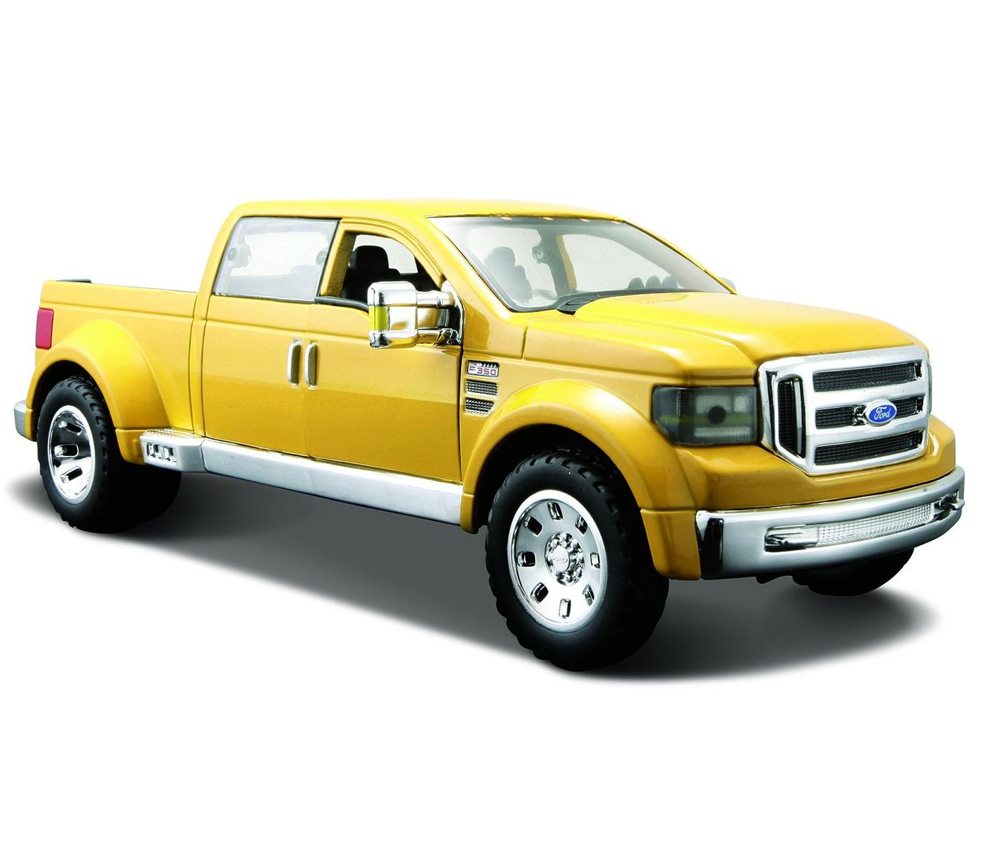 Купить Машинка Maisto 1:24 Ford Mighty F-350 Super Duty, желтая, Игрушечные машинки