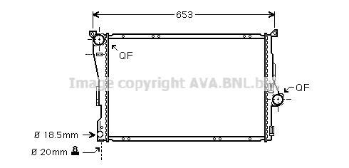 Радиатор охлаждения двигателя AVA QUALITY COOLING BWA2278