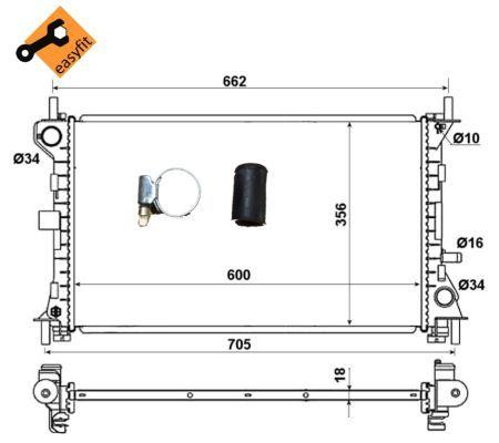 Радиатор охлаждения двигателя NRF 509615
