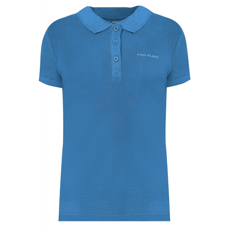 Купить Рубашка-поло Finn Flare Голубой р.164, Детские блузки, рубашки, туники