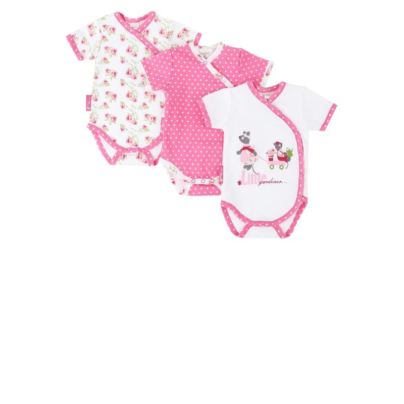 Купить Комплект боди 3 шт Lucky Child Бежевый р.86, Боди и песочники для малышей