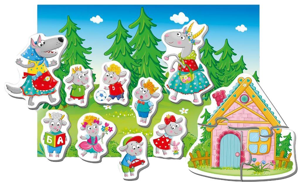 Развивающая игрушка Vladi Toys Магнитный театр Волк и семеро козлят VT3206-23 фото