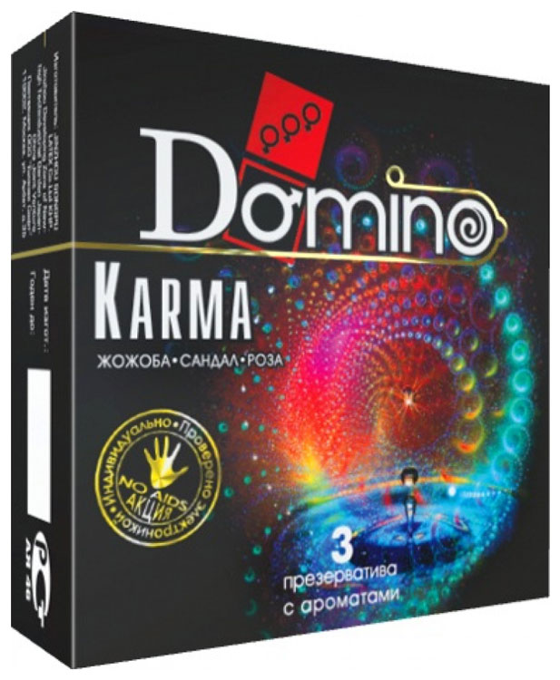 Купить Презервативы Domino Karma ароматизированные 3 шт.