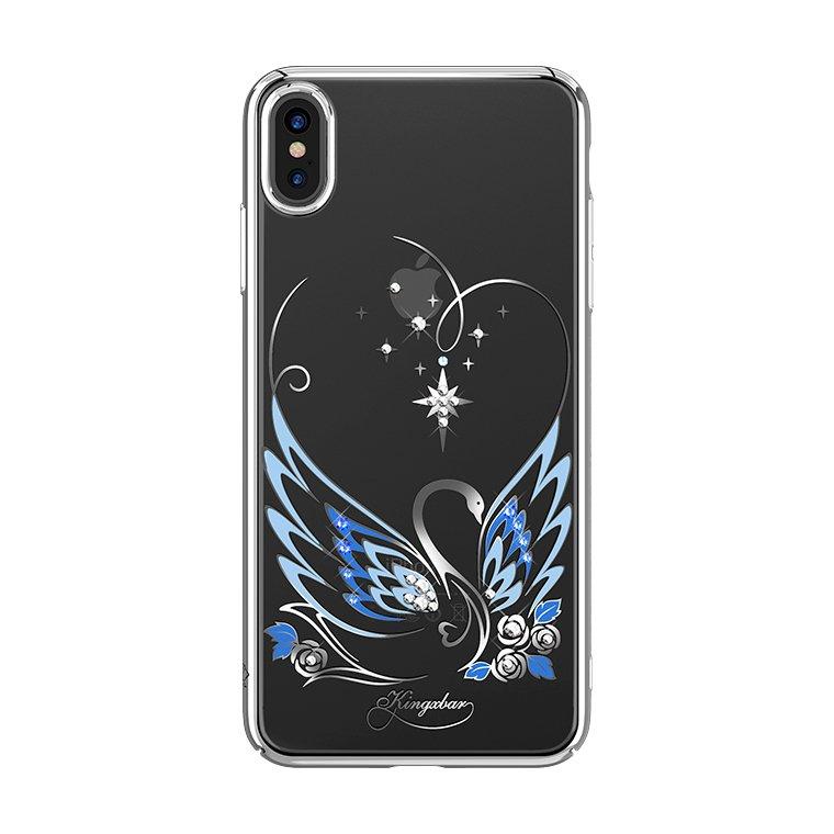 Чехол с Swarovski Kingxbar Swan Series для iPhone Xs Max фото