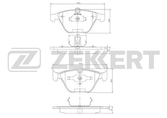 Комплект тормозных колодок, дисковый тормоз ZEKKERT BS-1163 фото