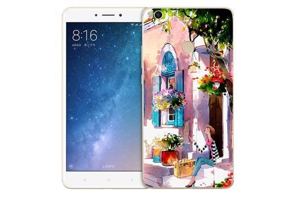 Чехол Gosso Cases для Xiaomi Mi MAX 2 «Девочка на цветущей улочке»