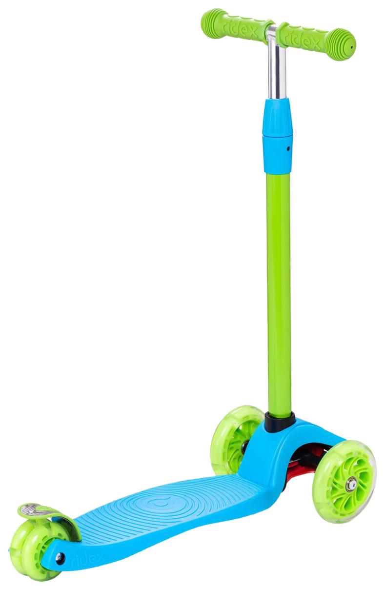 Купить Самокат 3-колесный Ridex Zippy 2.0 3D 120/80 мм Голубой, Самокаты детские трехколесные