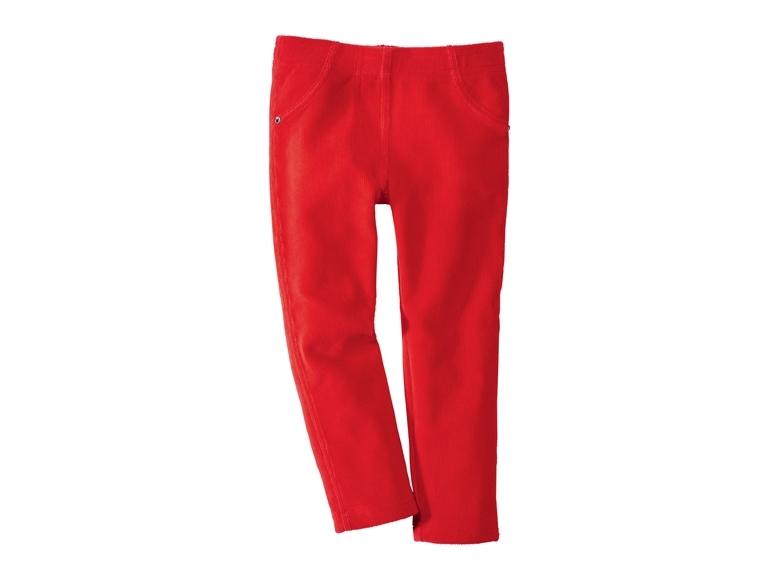 Купить Брюки для девочки Lupilu красные р.110-116, Детские брюки и шорты