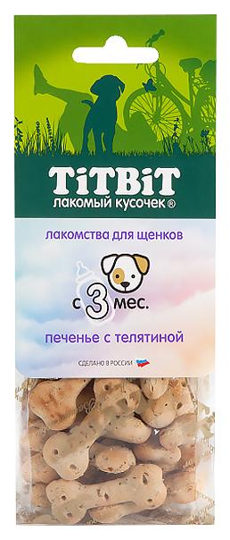 Лакомство для щенков TiTBiT, печенье с телятиной, 70г